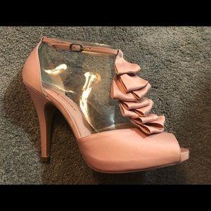 Audrey Brooke pink ankle strap pump size 10